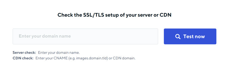 Check the SSL/TLS setup of your server or CDN